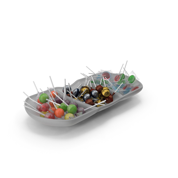 Compartment Bowl with Lollipops PNG & PSD Images