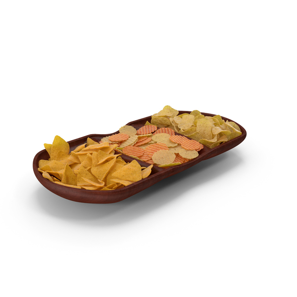 Compartment Bowl with Mixed Salty Chips Snacks PNG & PSD Images