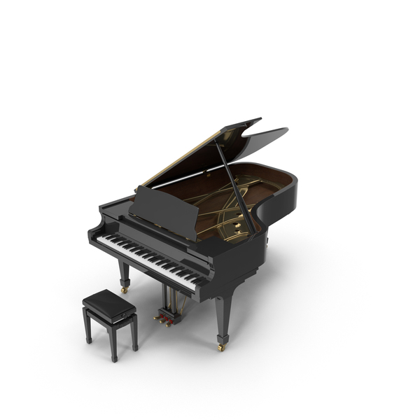 Grand: Concert Piano & Bench PNG & PSD Images