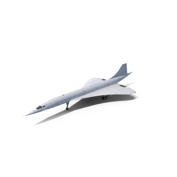 Concorde Supersonic Passenger Jet Airliner Object