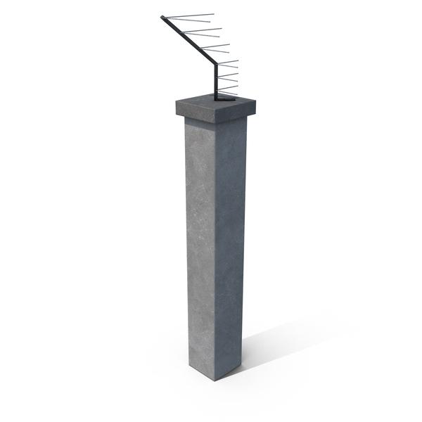 Concrete Fence Element Corner PNG & PSD Images