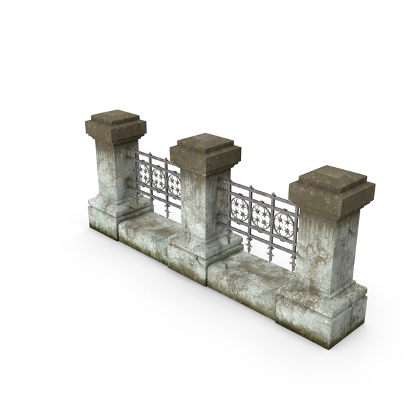 Concrete Iron Fence PNG & PSD Images