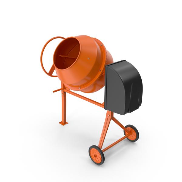 Concrete Portable Mixer PNG & PSD Images