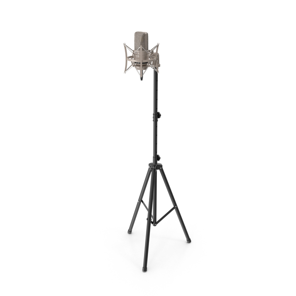 Condenser Microphone with Stand Object