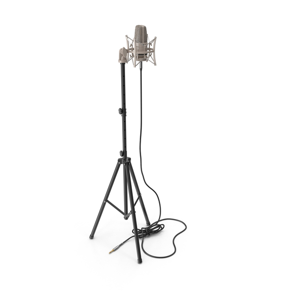 Condenser Microphone with Stand PNG & PSD Images