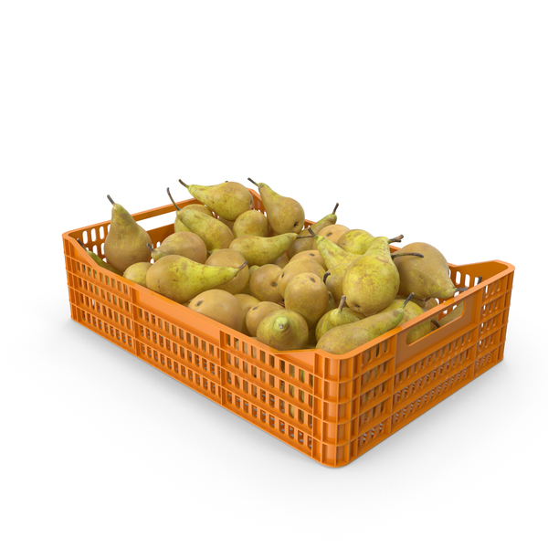 Conference Pear Crate PNG & PSD Images