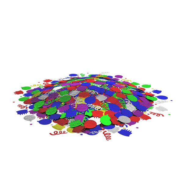 Confetti Pile PNG & PSD Images