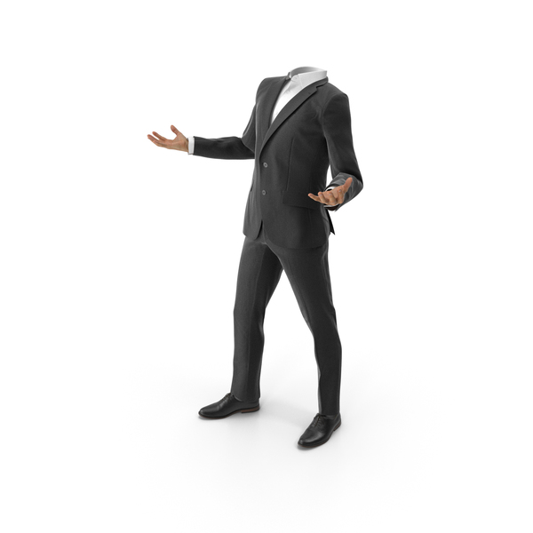 Clothing: Confused Suit  v2Black PNG & PSD Images