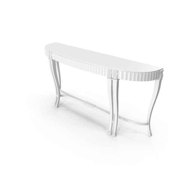 Console table white PNG & PSD Images