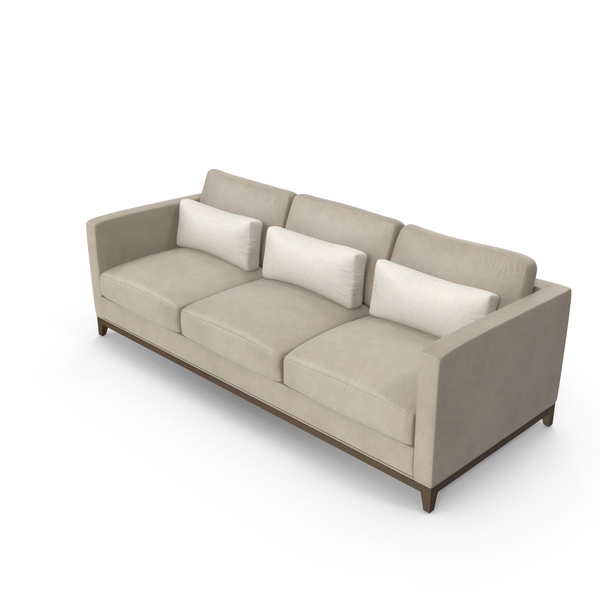 Contemporary 3 Seater Sofa PNG & PSD Images