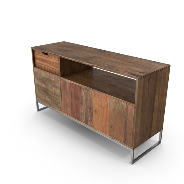 Sideboard: Contemporary Credenza PNG & PSD Images