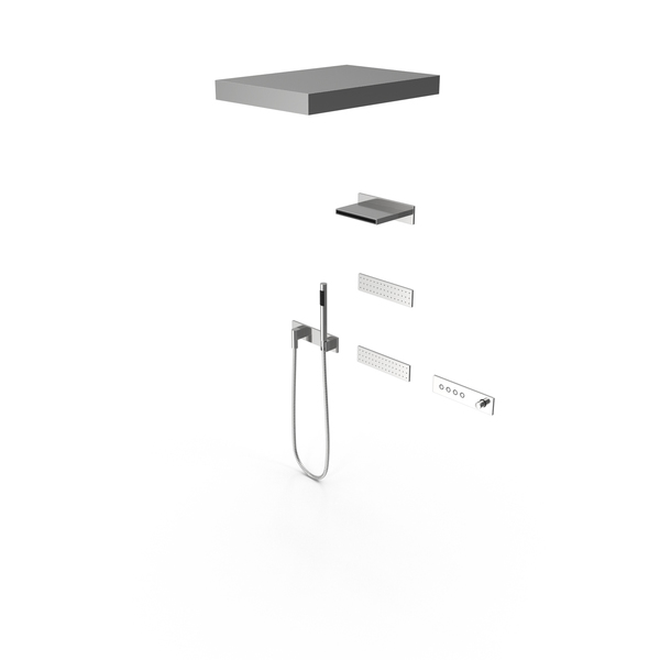 Contemporary Shower Fixture PNG & PSD Images
