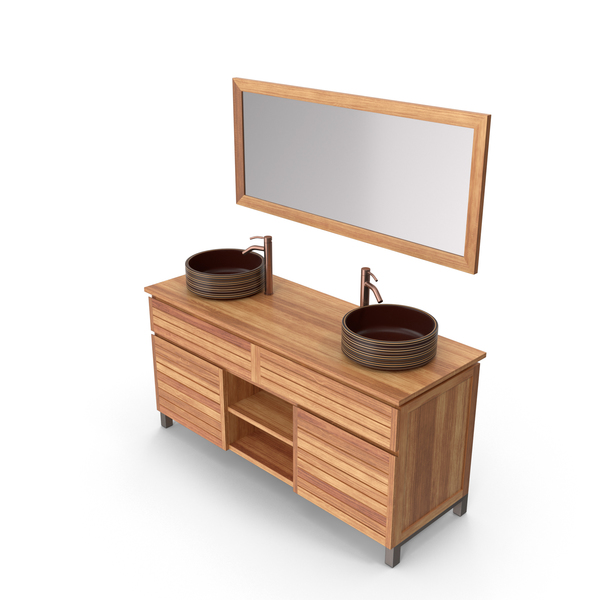 Bathroom Furniture: Contemporary Vanity PNG & PSD Images