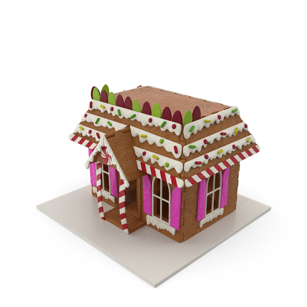 Cookie Dough Gingerbread House PNG & PSD Images