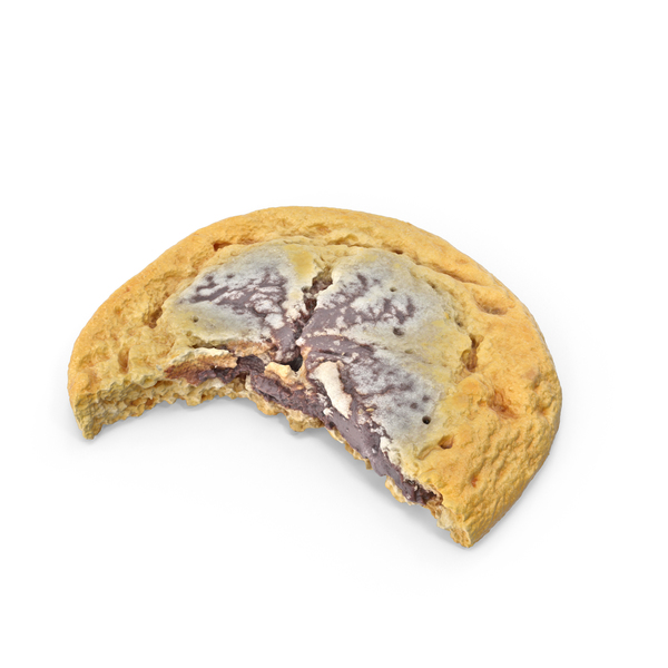 Cookie With Chocolate Cream Bitten PNG & PSD Images