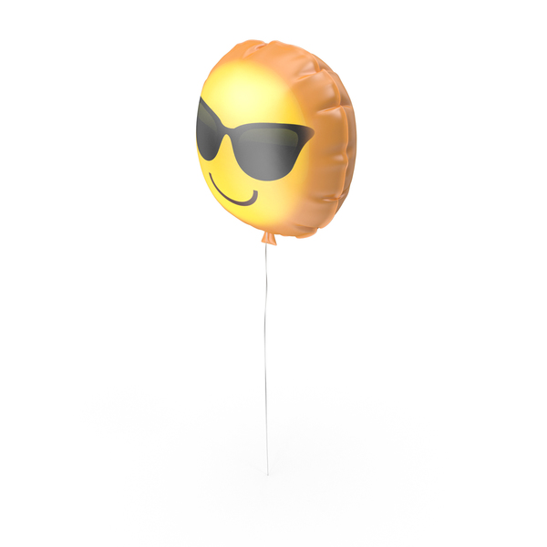 Cool Emoji Printable Balloon PNG & PSD Images