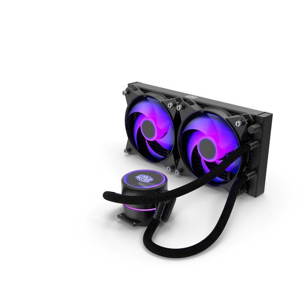 Cooler Master MasterLiquid Pro CPU Liquid Cooler PNG & PSD Images