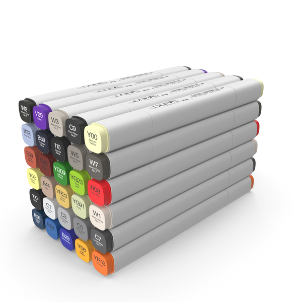Copic Markers PNG & PSD Images