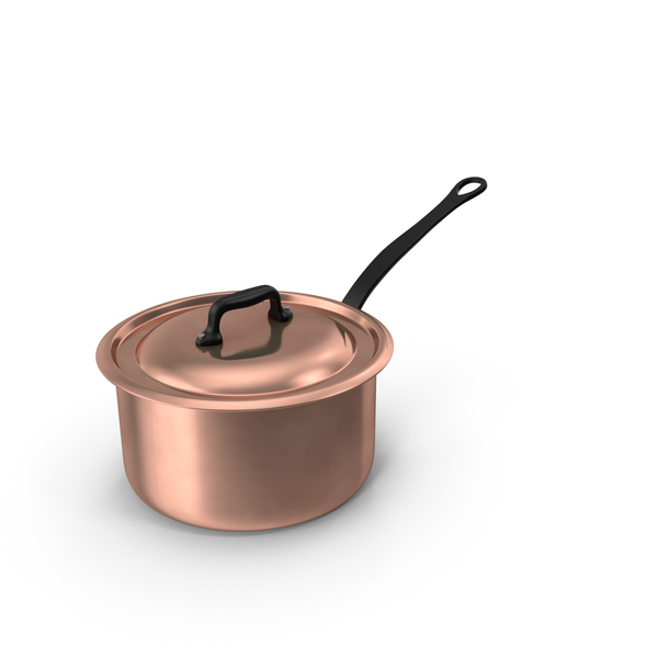 Cookware: Copper 5qt Saucepan PNG & PSD Images