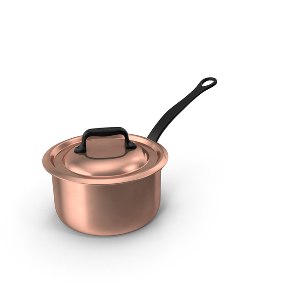 Cookware: Copper 9qt Saucepan PNG & PSD Images