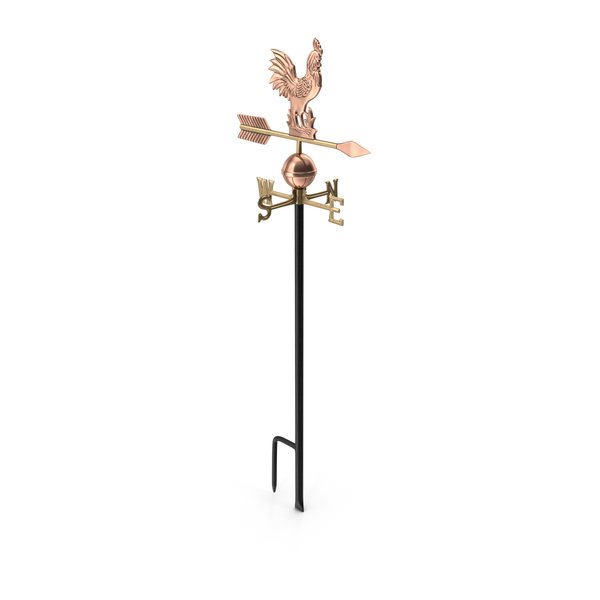 Copper Rooster Weathervane PNG & PSD Images