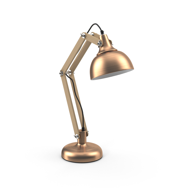 Copper Table Lamp PNG & PSD Images