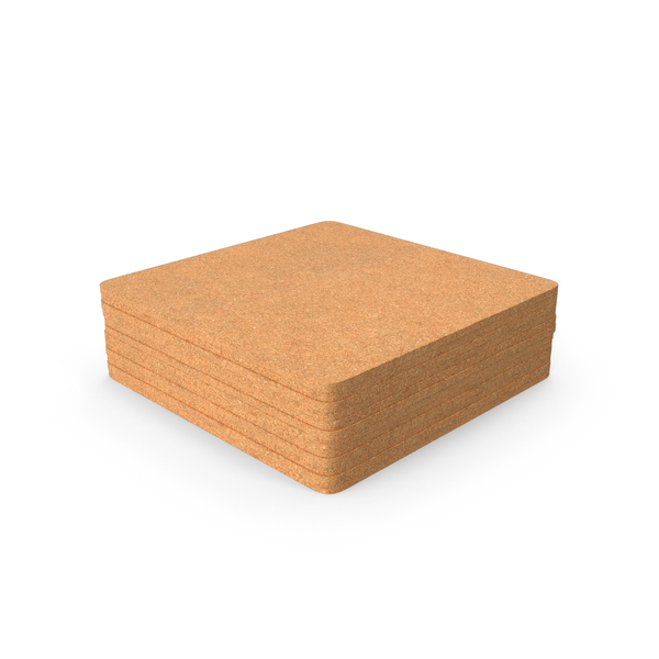 Cork Coasters PNG & PSD Images
