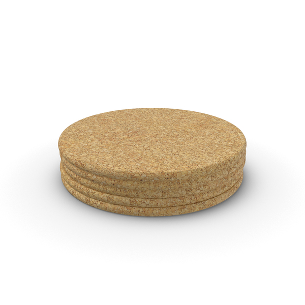 Drink Coaster: Cork Coasters PNG & PSD Images