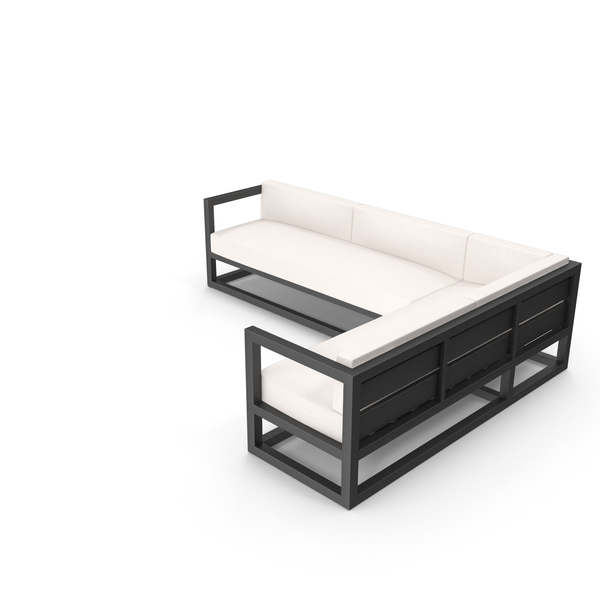 Patio Furniture: Corner Outdoor Sofa PNG & PSD Images