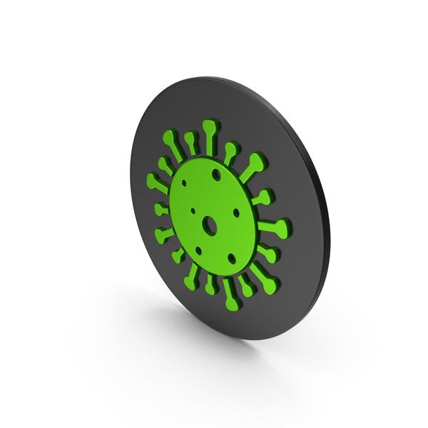 Virus: Coronavirus Green Icon PNG & PSD Images