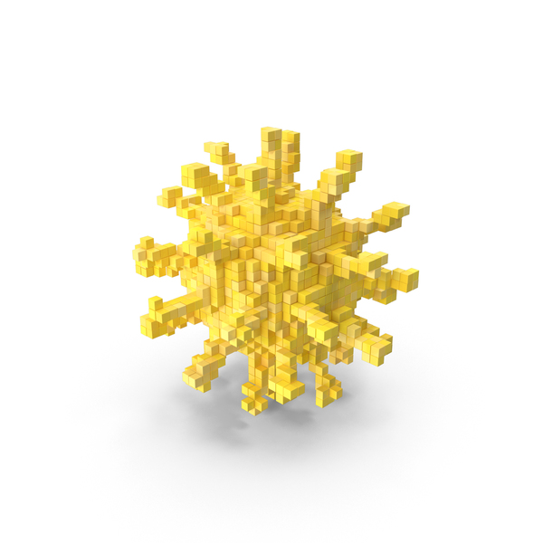 Coronavirus Voxel PNG & PSD Images