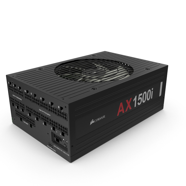 Corsair AX 1500i Power Supply PNG & PSD Images