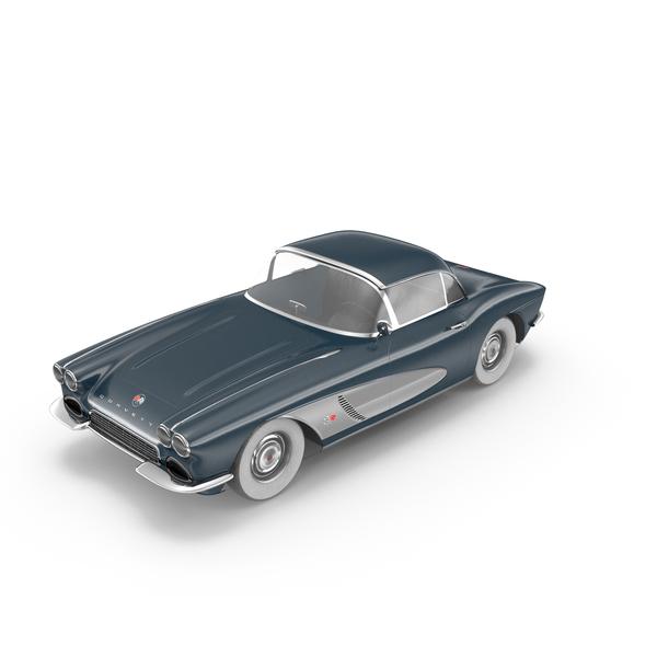 Antique Car: Corvette 1962 PNG & PSD Images