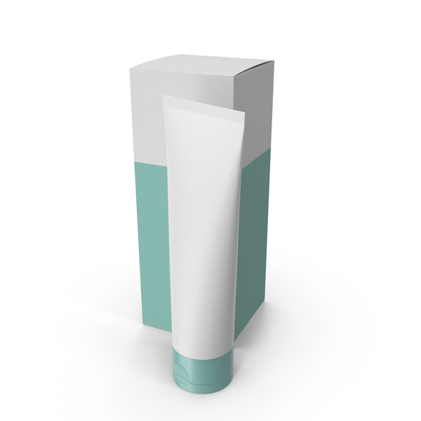 Cosmetic Tube and Box PNG & PSD Images