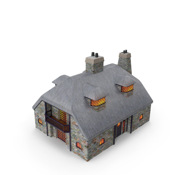 Miniature Toy: Cottage PNG & PSD Images