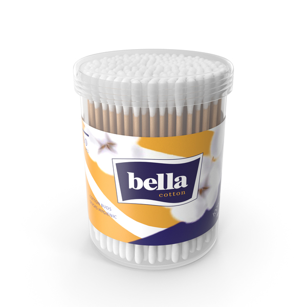 Cotton Buds Round Box PNG & PSD Images