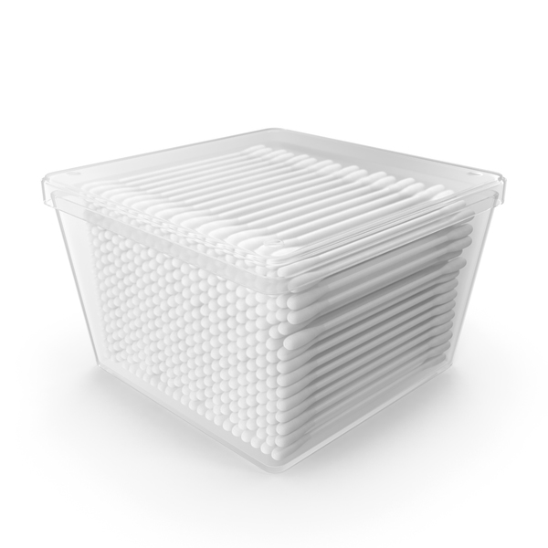 Cotton Sticks in Plastic Box PNG & PSD Images