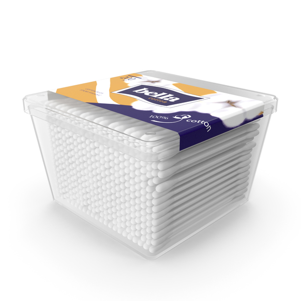 Cotton Sticks in Square Box PNG & PSD Images