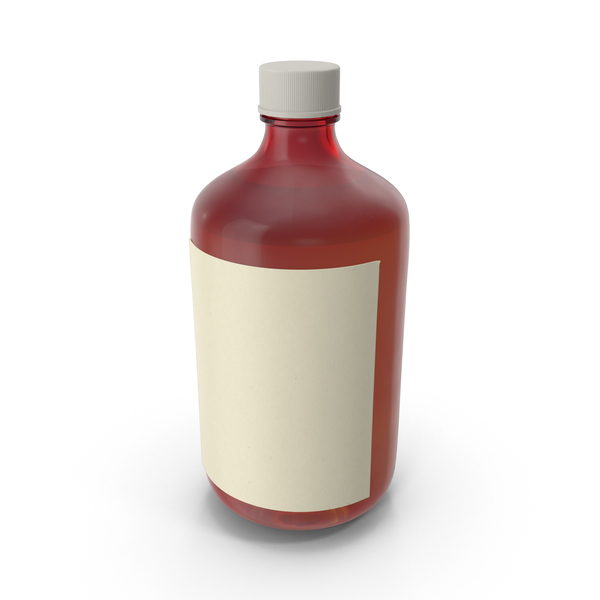 Medicine: Cough Syrup Bottle PNG & PSD Images