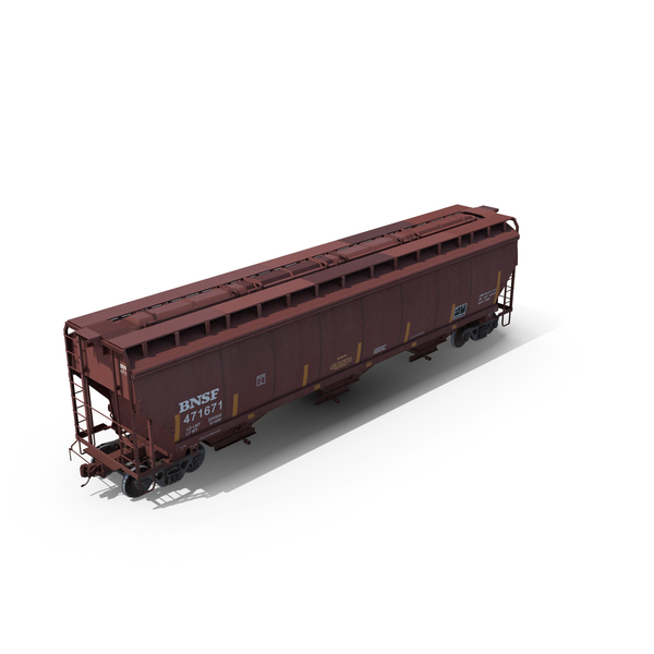 Covered Hopper Car C114 PNG & PSD Images