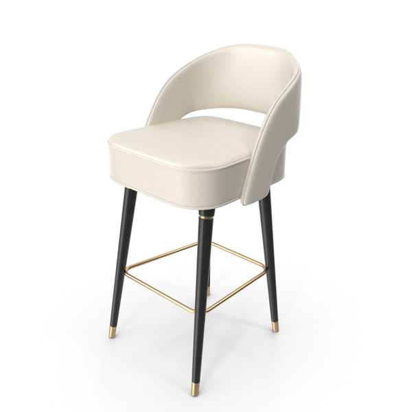 Covet Lounge Beige Collins Bar Chair PNG & PSD Images