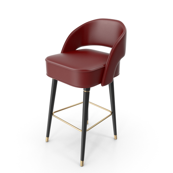 Covet Lounge Dark Red  Collins Bar Chair PNG & PSD Images