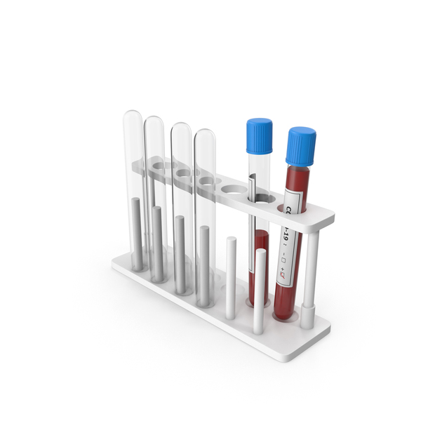 Covid-19 Positive Test Tube Rack PNG & PSD Images
