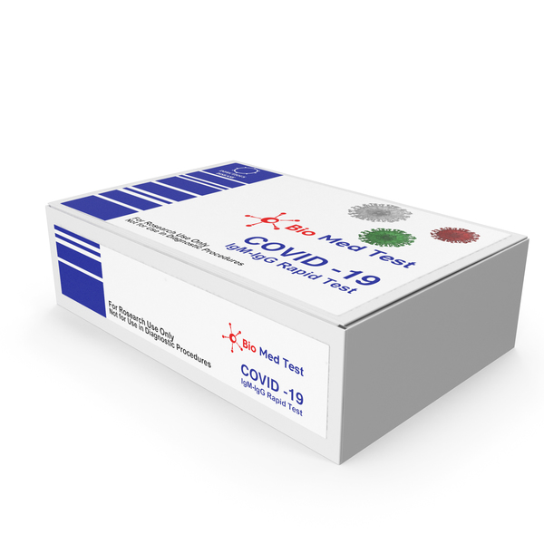Packaged Medicine: COVID 19 Rapid Diagnostic Test Pack PNG & PSD Images