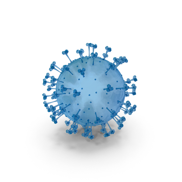 Covid 19 Virus Blue PNG & PSD Images