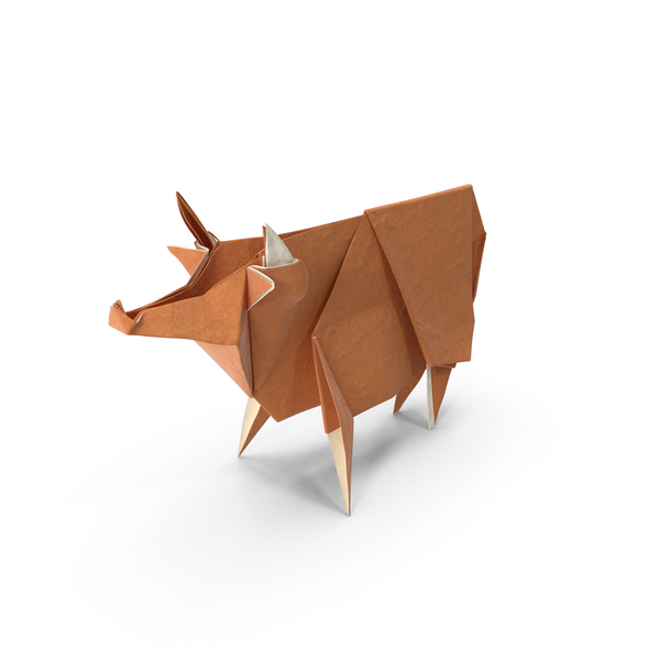 Origami: Cow PNG & PSD Images