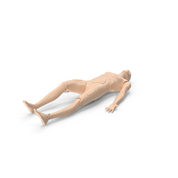 CPR First Aid Training Manikin Laying Pose PNG & PSD Images