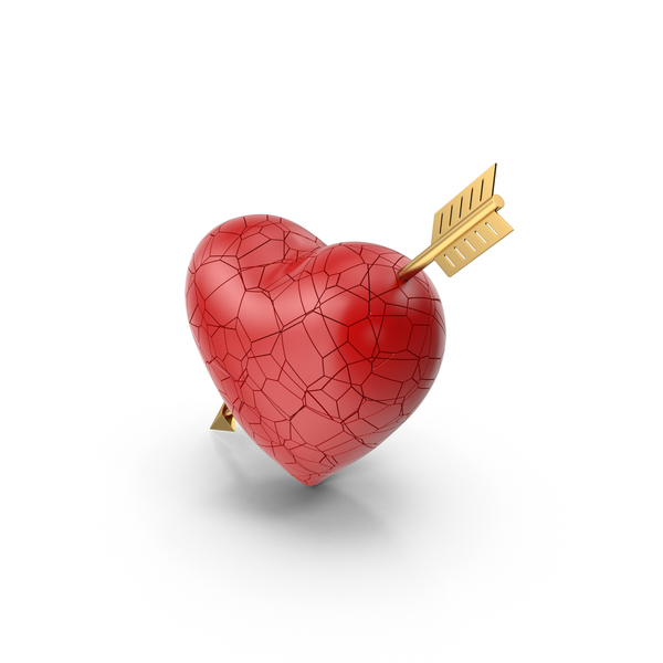 Cracked Heart with Arrow PNG & PSD Images