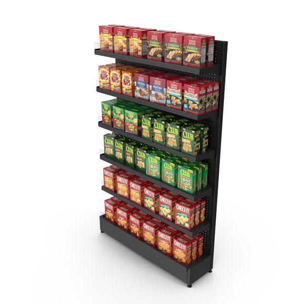 Supermarket: Crackers Shelving PNG & PSD Images