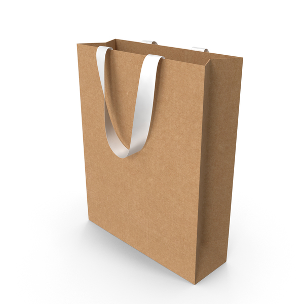 Craft Bag with White Ribbon Handles PNG & PSD Images